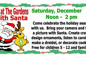 Fun with Santa at the Port St Lucie Botanical Gardens